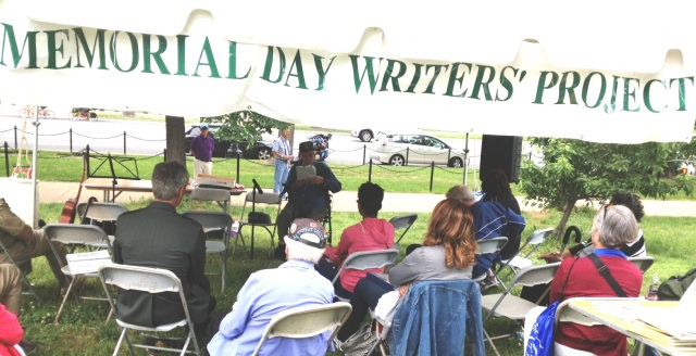 Memorial Day Writers Project Open Mic near the Vietnam Memorial in Washington, DC, May 27, 2013