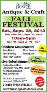 Old Bowie Fall Antique & Craft Festival Poster