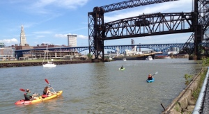 Kayakers on the Cuyahoga