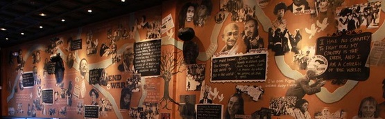 Busboys and Poets Howard Zinn Room Mural by Andy Shallal