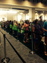 Oh, to be so loved ... the book signing line
