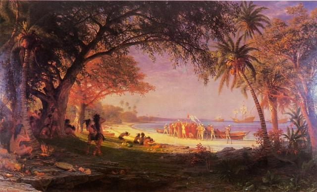 The Landing of Columbus Albert Bierstadt