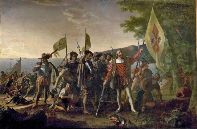 Landing of Columbus, John Vanderlyn, Capitol Rotunda, 1847