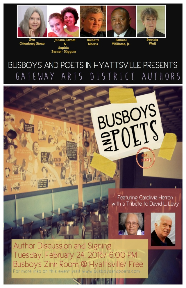 Gateway Arts District Authors Read at Busboys and Poets