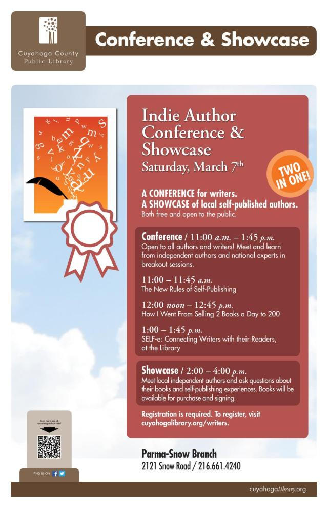Indie Author Showcase and Conference in Parma, Ohio