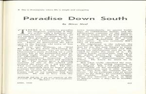 """""""Paradise Down South"""" from 1950 Crisis Magazine (NAACP)"""