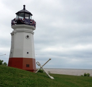 Vermilion Lighthouse and Lake Erie