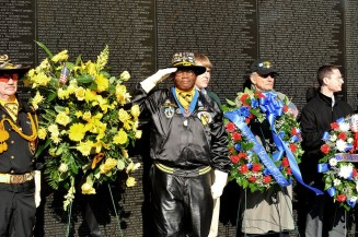 A salute at the wall -