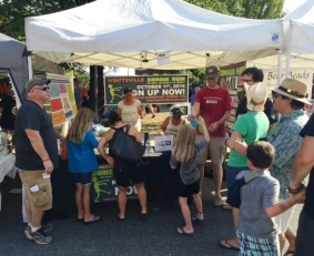 Children Receive Tattoos at Zombie Run booth