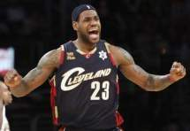 Lebron James of the Cleveland Cavaliers in Quicken Loans Arena