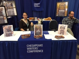 Chesapeake Writers Conference booth